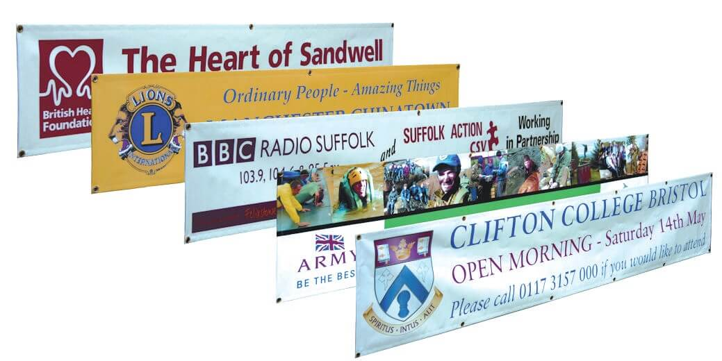 Vinyl Banners Roller Banners Sail Flags Nickel Press - Vinyl banners and signsexhibitiondisplay signs pvc banners roller banners flag